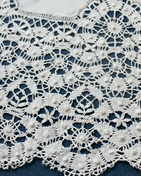 Antique French Linen Cluny Lace Square Tablecloth Breathtaking!