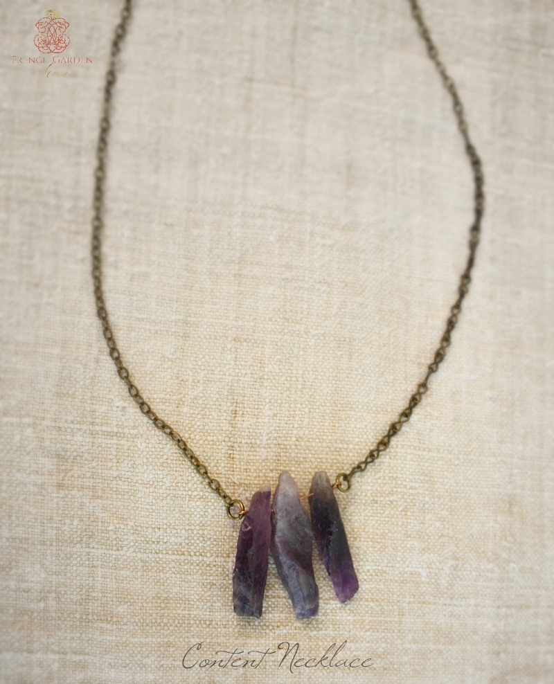 Natural Elements Content Necklace Amethyst