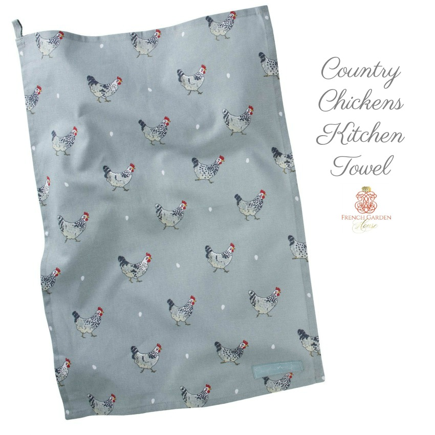 Country Chickens Kitchen Towel