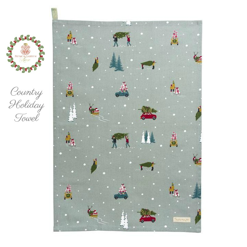 Home for the Holidays Country Tea Towel