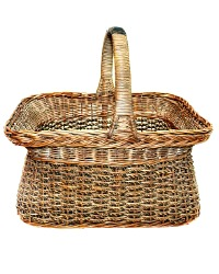 Antique French Country Panier Market Basket