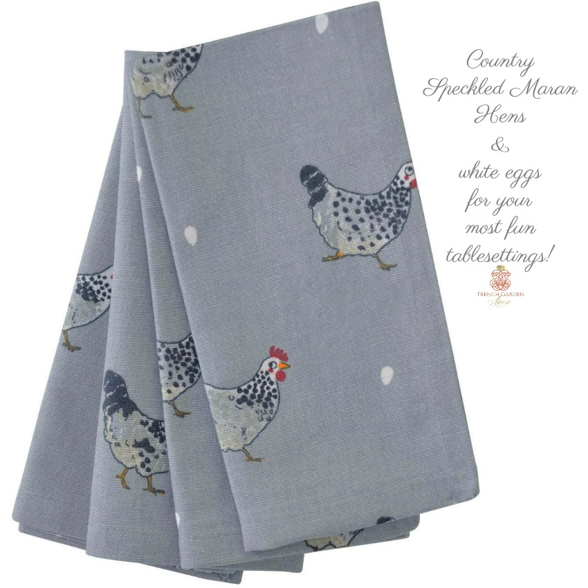 Country Chickens Napkins Set of 4