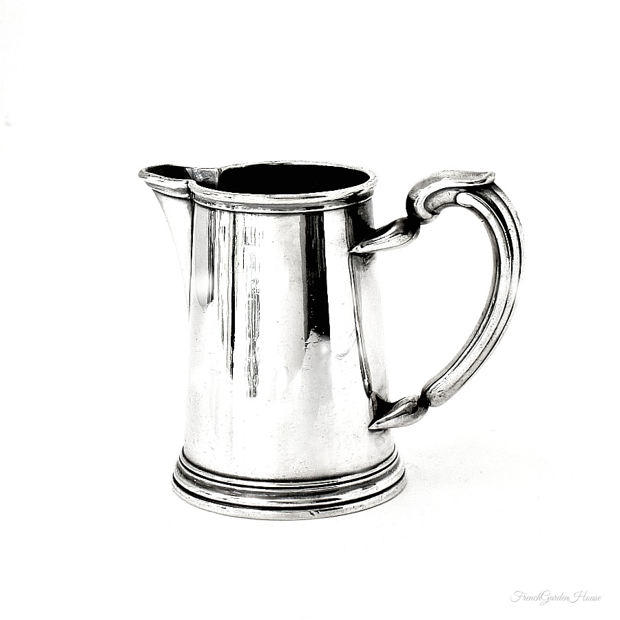 antique french christofle silver plate small pitcher. Black Bedroom Furniture Sets. Home Design Ideas
