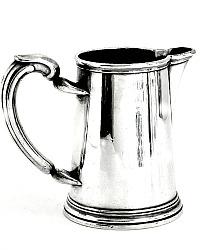 Antique French Christofle Silver Plate Small Pitcher