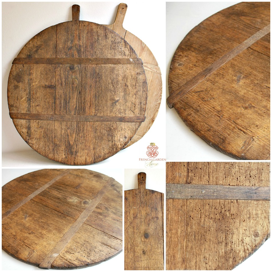 Antique French Boulangerie Breadboard with Initial