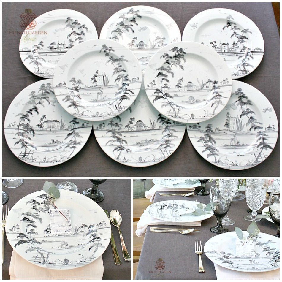Exceptional Dinner Plates Hand Painted Deborah Sears Set of 8