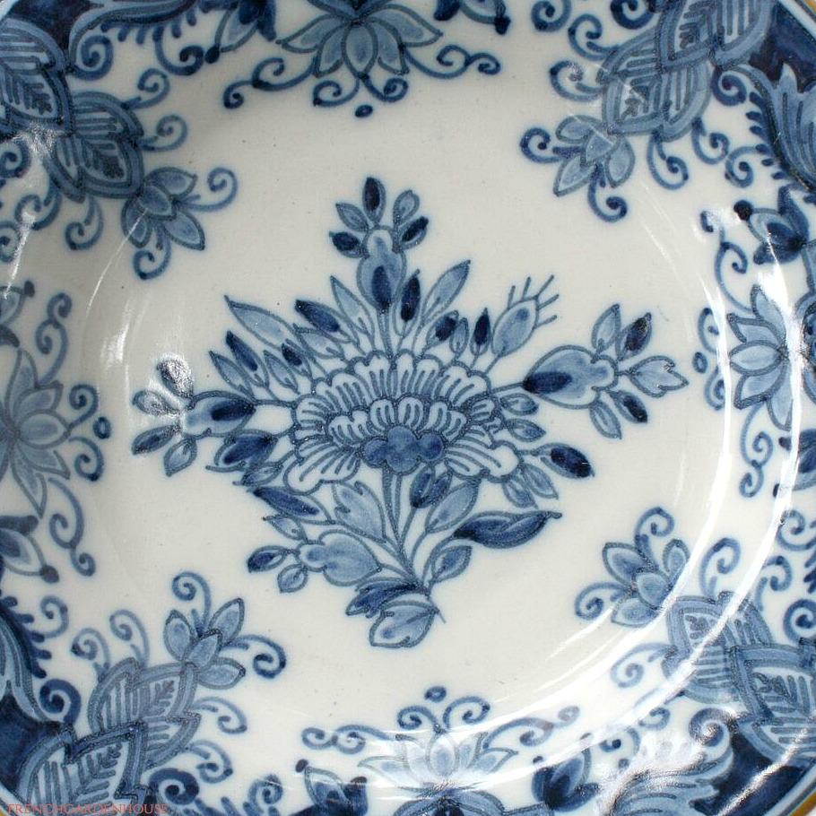 Tichelaar Delft Blue Makkum Hand Painted Floral Plate