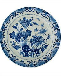 Delft Blue Hand Painted Chinoiserie Plate Porceleyne Fles
