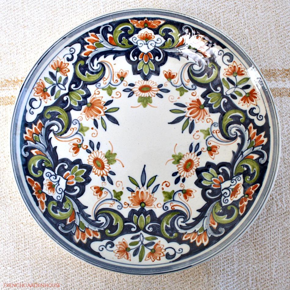 Makkum Delft Hand Painted Floral Plate