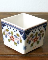 Tichelaar Polychrome Makkum Hand Painted Fine Square Bowl