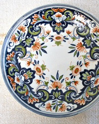 Makkum Delft Hand Painted Floral Plate