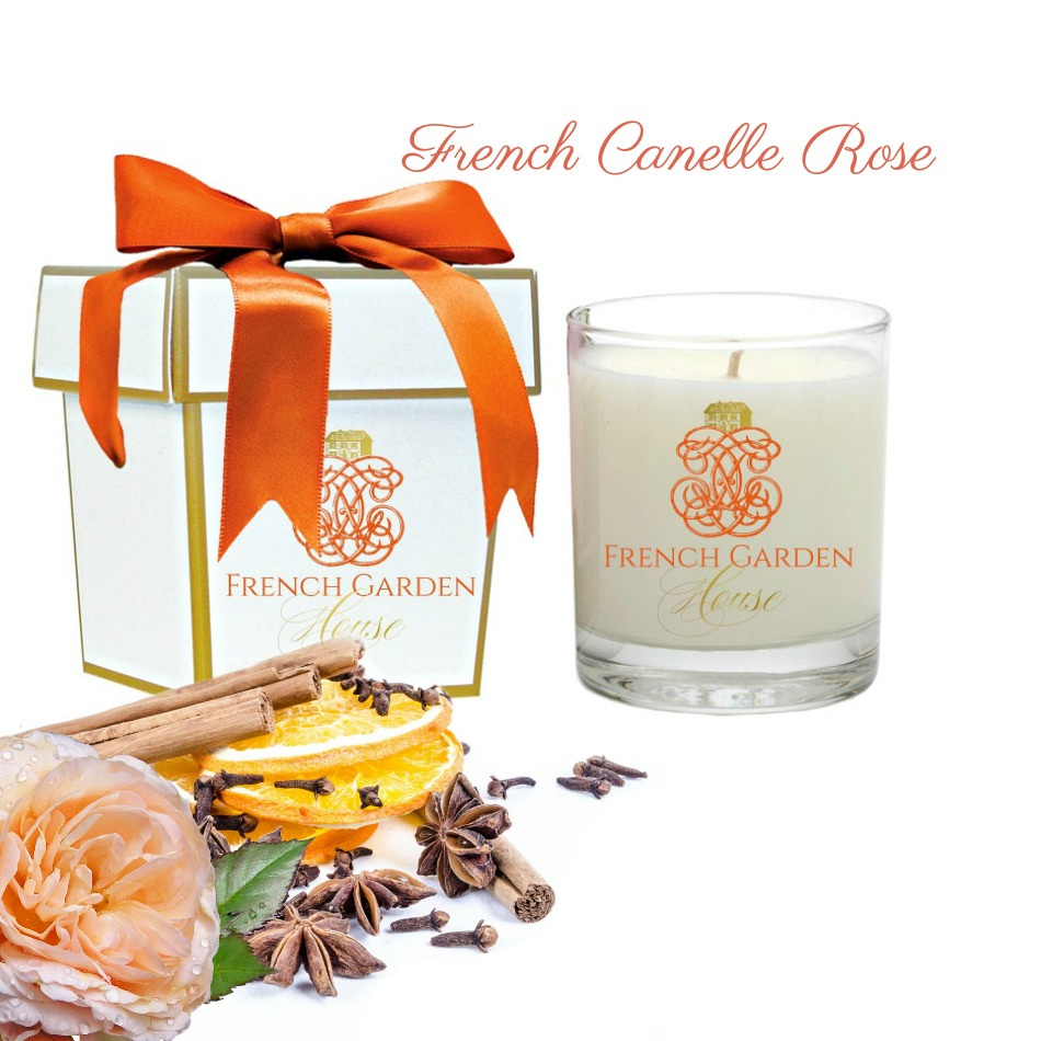 French Canelle Rose Luxury Candle