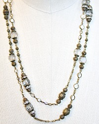 Aged Diamond Wrap Necklace