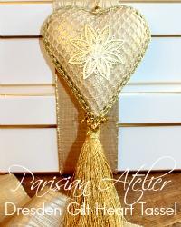 Parisian Atelier Dresden Star Heart Tassel Ornament