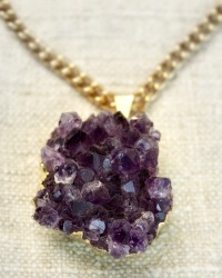 Purple Druzy Amethyst Muse Necklace