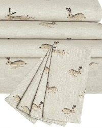 Country Hares Table Runner and Napkin Set