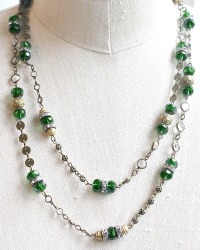 Emerald Green Wrap Necklace