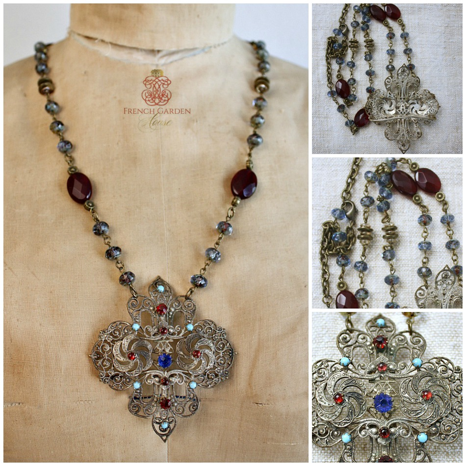 Antique Empire Dreams Pendant Necklace