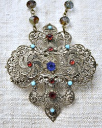 Georgia Hecht Antique Empire Dreams Pendant Necklace