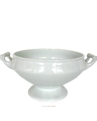19th Century English Footed Ironstone Large Serving  Bowl