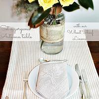 European Luxury Linen Gerbe de Ble Napkin Natural Set of 4