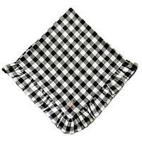 European Black & White Check Ruffle Napkin Set of 4