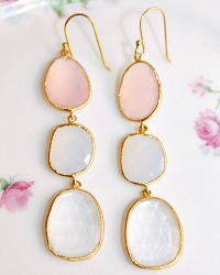 Gold Vermeil Pink Evening Glow Earrings