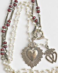 Georgia Hecht Infinite Heart Charm Necklace