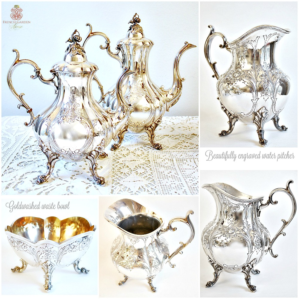Reed and Barton Hand Chased Silver Plated 6 pc.Tea Service