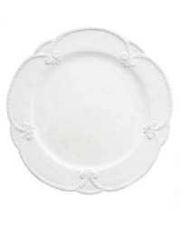 Arte Italica Bella Bianca Rosette Dinner Plate Set of 4