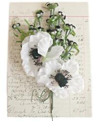 Vintage Millinery Flowers Inspiration Box Blanc et Noir