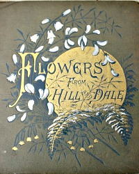 Antique Flowers from Hill and Dale Chromolithograph Book Skelding 1st Edition