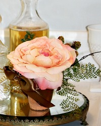 Faux French Autumn Rose Petit Arrangement