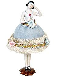 1920 Rare Deco German Half Doll Standing Pin Cushion