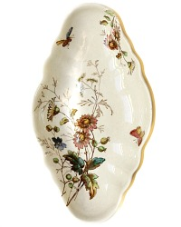 19th Century Floribel Polychrome Ironstone Celery Tray