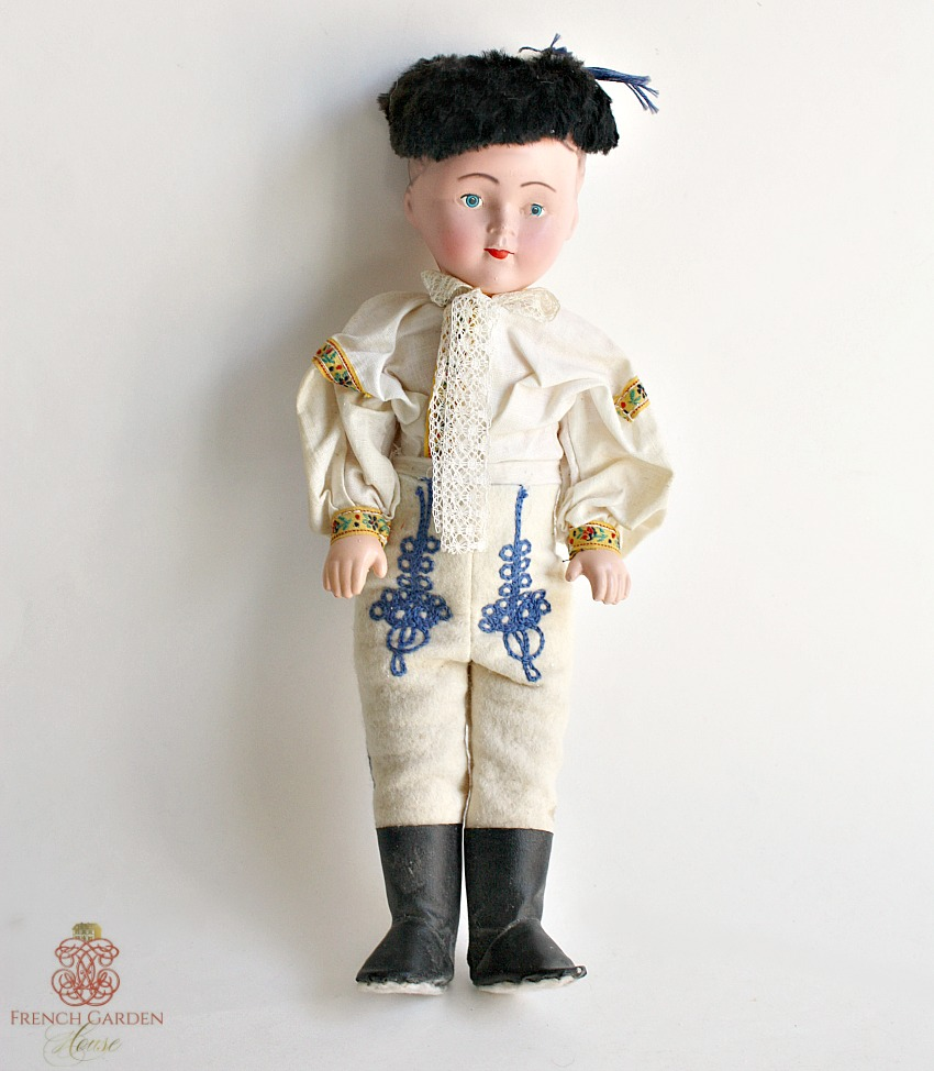Vintage Celluloid Folkloric Boy Doll
