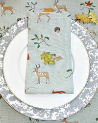 Autumn Forest Table Runner and Napkin Set