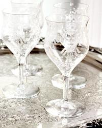 Vintage Fostoria Etched Liqueur Glasses Set of 6
