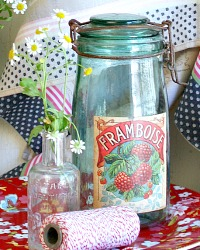 Vintage French Canning Jar Framboise