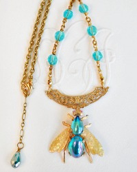 Vintage Abeille Bleu Necklace