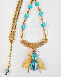 Vintage Abeille Bleu Necklace
