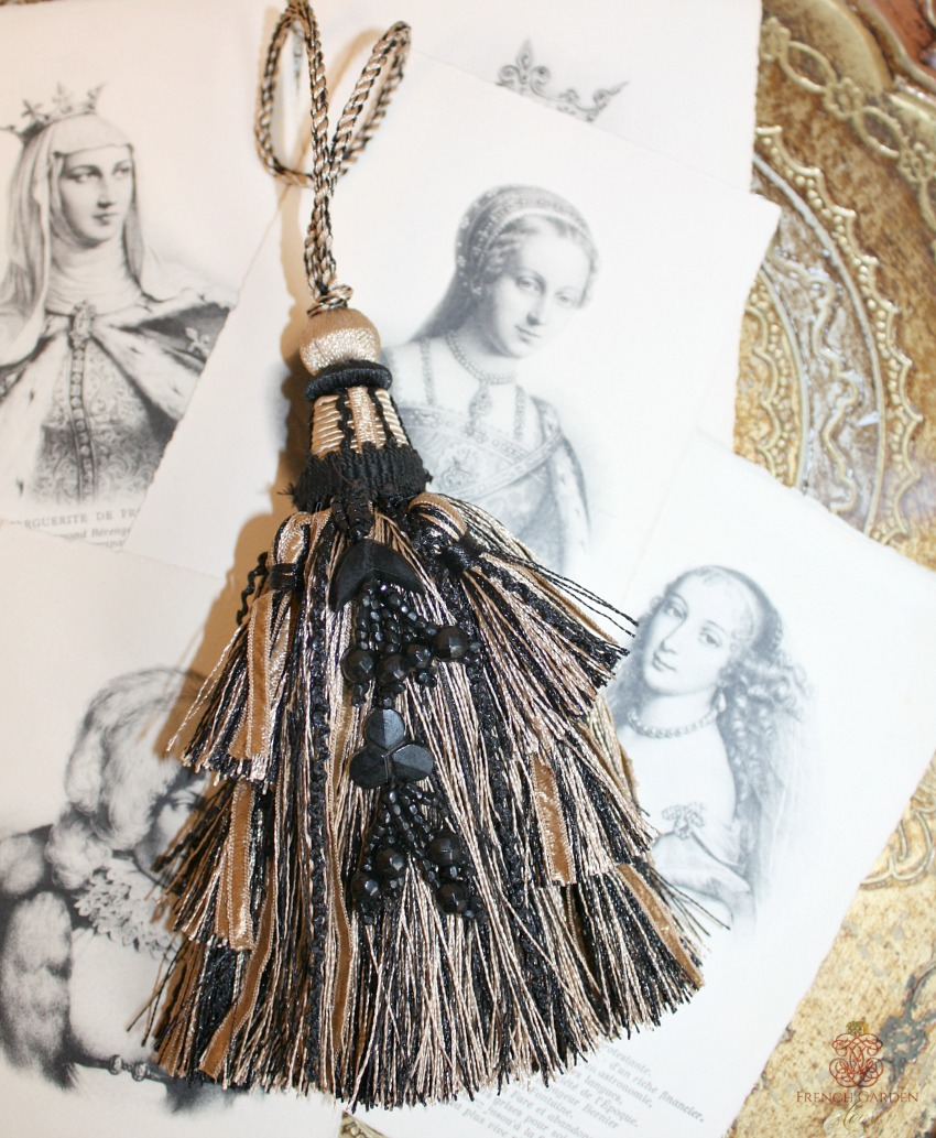 Large French Camel & Black Tassel