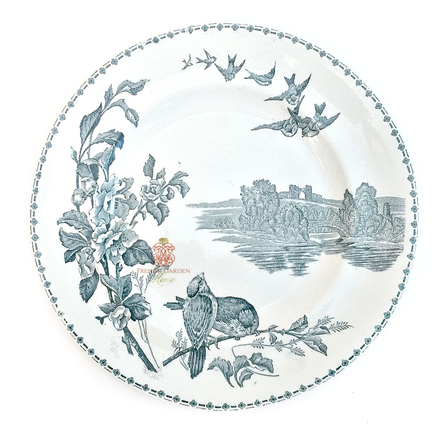 Antique French Aesthetic Birds Plate