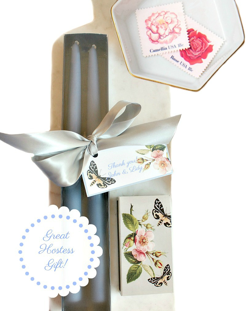 Hand Dipped French Blue Taper Candles Gift Set