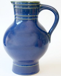French Country Provencial Blue Pitcher
