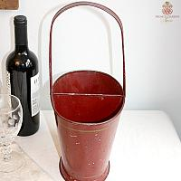 Antique French Tole Bordeaux Red Wine Basket