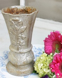 Antique French Art Nouveau Cast Iron Jardin Vase