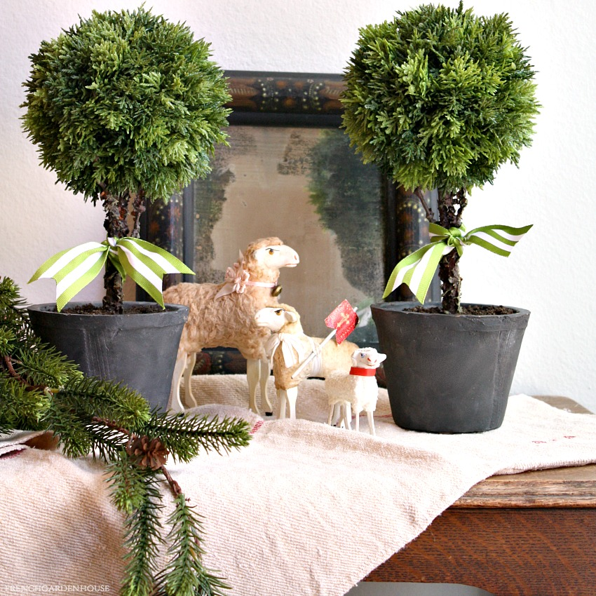 French Country Cypress Topiary