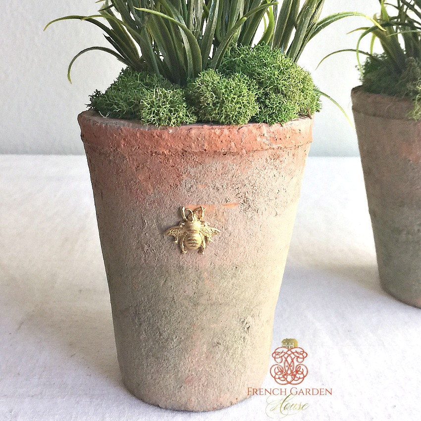 French Country Lavande Abeille Topiary Set of 2