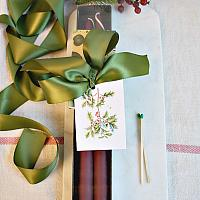 Hand Dipped Merlot Taper Candles Hostess Gift Set